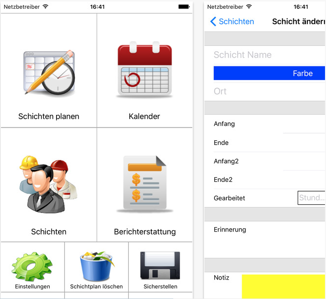 FlexR Schichtplaner Screenshot